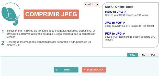 Compressor JPEG permite comprimir imágenes online y sin perder calidad