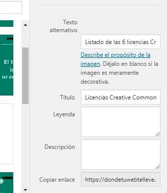 Configuración de imágenes para SEO en WordPress