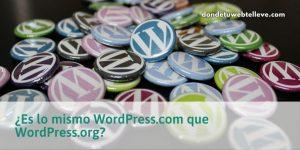 Â¿Es lo mismo WordPress.com que WordPress.org?