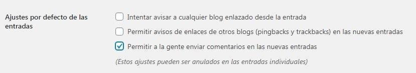 Opciones para habilitar y deshabilitar comentarios en WordPress