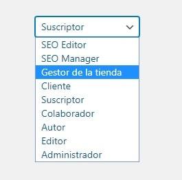 Desplegable de perfiles WordPress con tipos de usuario creados por plugins