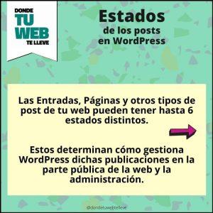 Estados de los posts en WordPress. Infografía 1