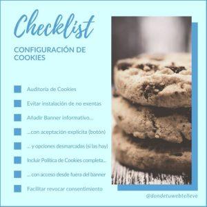 Checklist para configurar las cookies de tu web