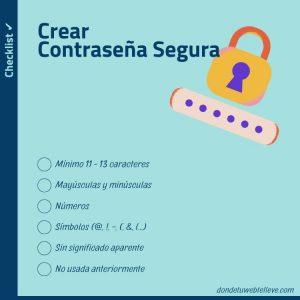 Checklist Cómo configurar contraseñas seguras