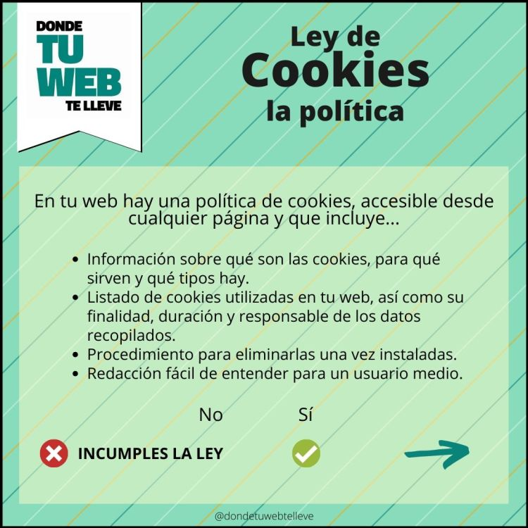 Cumplir Ley de Cookies. La Política