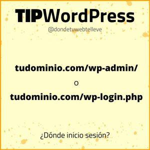 Tip WordPress: Urls para iniciar sesión en WordPress