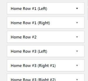 Widgets para configurar la portada tras cambiar de tema WordPress