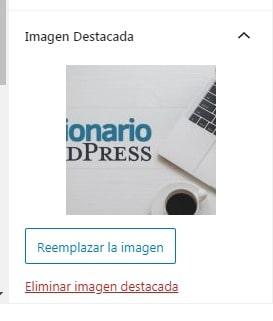 """Sección """"Imagen Destacada"""" en los ajustes de una entrada"""