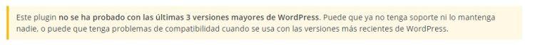 Aviso en la Página Oficial de WordPress de que un plugin ya no recibe actualizaciones