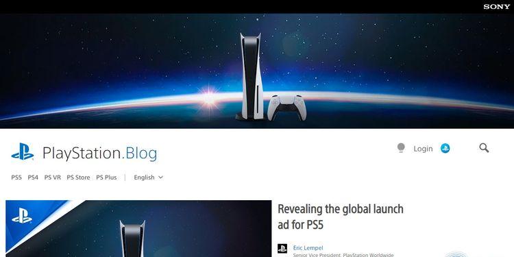 El blog de PlayStation está creado con WordPress