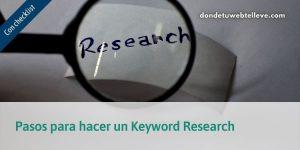 Pasos para Hacer un Keyword Research