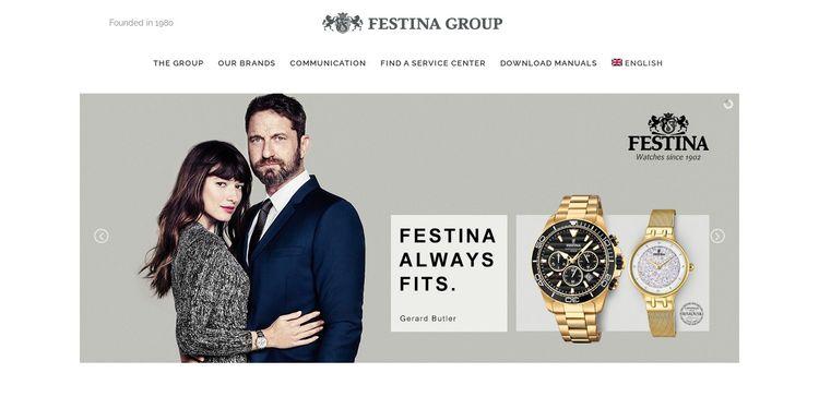 Grupo Festina, otra de las empresas internacionales que usa WordPress