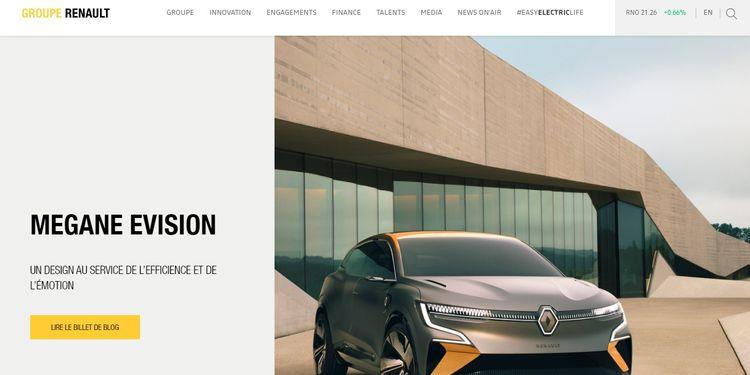La web del Grupo Renault se hizo con WordPress