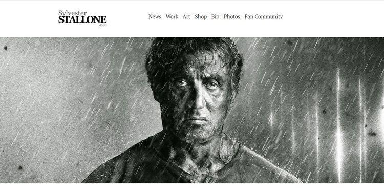 Entre las muchas webs con WordPress también está la de Sylvester Stallone