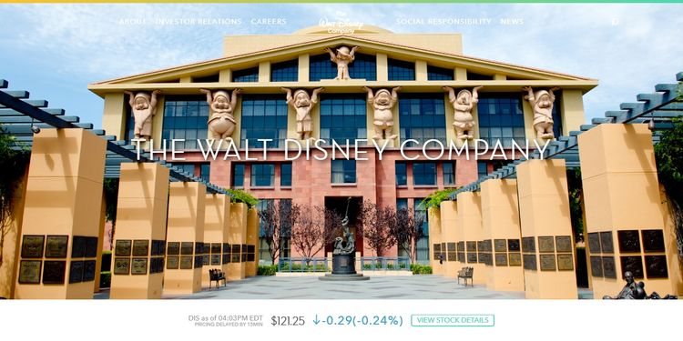 La web de Walt Disney está hecha con WordPress