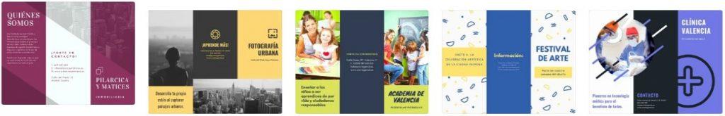 Ejemplos de Canva para folletos