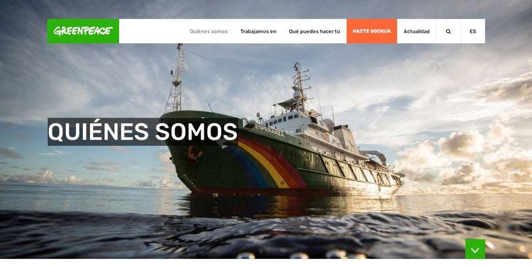 Una de las páginas famosas hechas con WordPress es la de Greenpeace