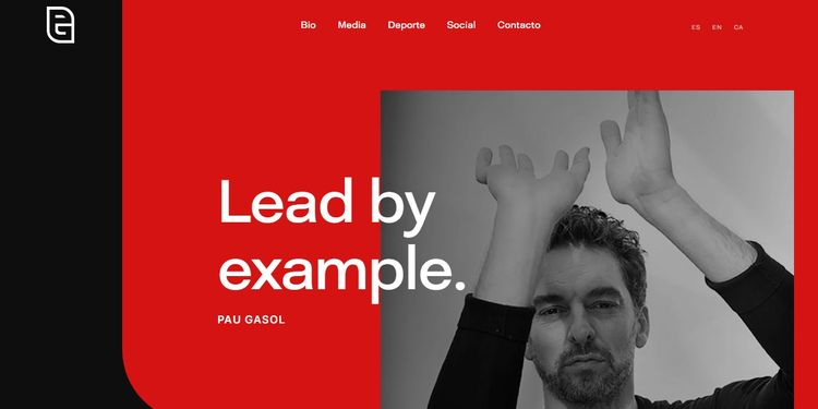 Pau Gasol tiene una web con WordPress