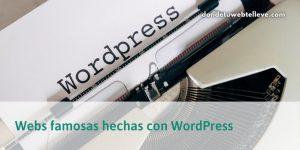 49 Webs famosas con WordPress