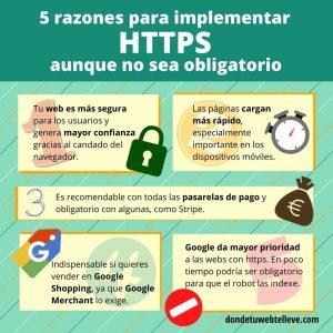 Infografía: 5 razones para implementar HTTPS aunque no sea obligatorio