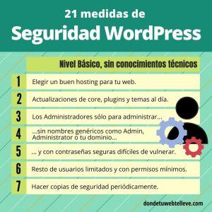 7 medidas de seguridad WordPress sencillas
