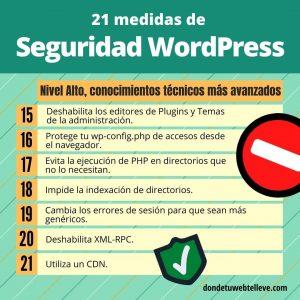 7 medidas de seguridad WordPress avanzadas