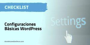 WordPress. Configuración Básica