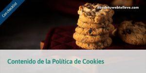 Contenido de la Política de cookies