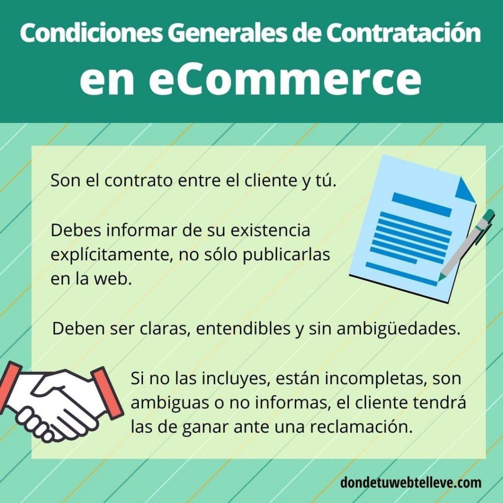 Infografía: Condiciones Generales de Contratación en eCommerce (Qué son y características)