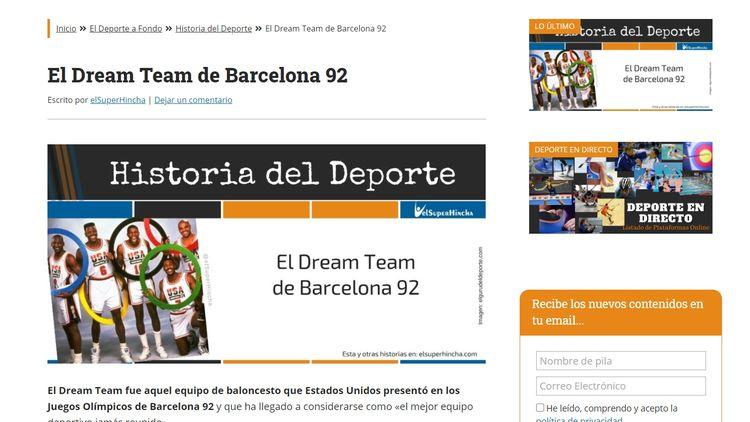 Página en WordPress con un Sidebar a la derecha