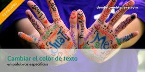 Cambiar Color Texto WordPress (texto seleccionado únicamente)